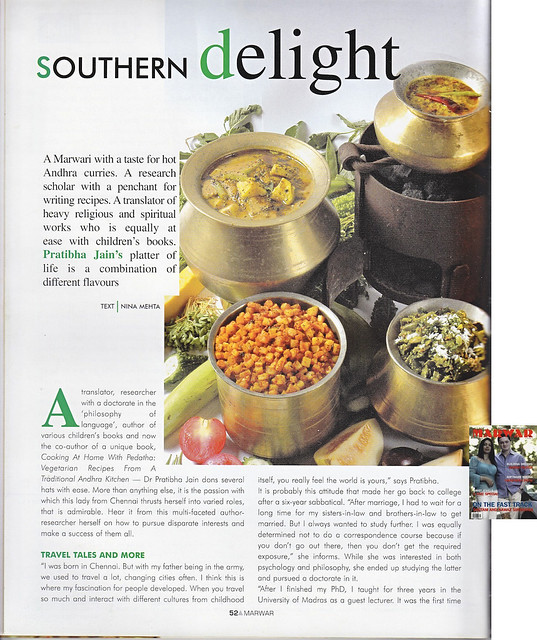 Marwari with a taste for hot andhra curries marwar magazine pratibha jains platter of life is a combination of different flavours says marwar magazine about pratibha jain in an interview forumfinder Choice Image