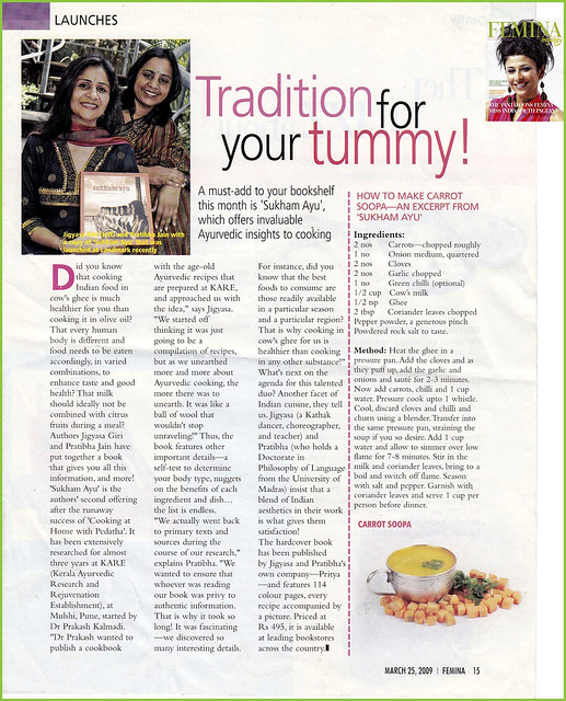 Femina features our healthy soup recipe