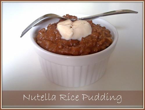 Vegetarian Tastebuds: Nutella Rice Pudding