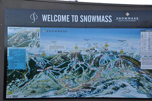 Mapa de pistas de Snowmass