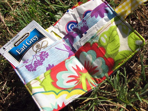 bright floral tea wallet