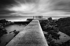 High Rock Pier (Ger208k) Tags: dublin seascape monochrome clouds island pier blackwhite le nd ladder malahide highrock bigstopper