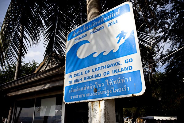 Warning Tsunami Signboard
