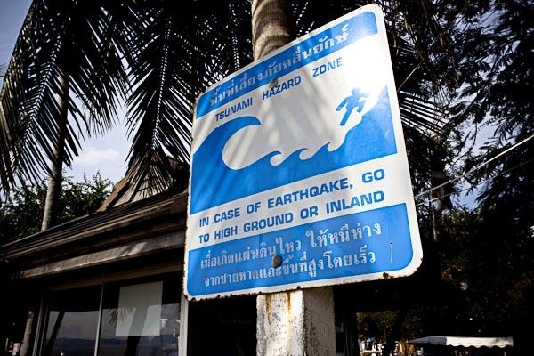 Warning Tsunami Signboard