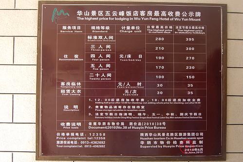 Preisschild mit Angabe von Telefonnummer und Preisen (Okt. 2010)