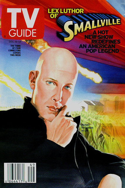 TV Guide Dec 2001 Smallvile - Alex Ross Michael Rosenbaum painting