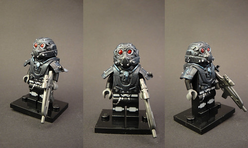 Custom minifig Deep Eyes - Playing with painting techniques