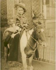 1935 Bob on Pony  - Wellston, MO (carlylehold) Tags: ridge morton hobart delaware wellston como 1930 1940 whs trojans welhisco flashlight high school wells evergreen ella carlylehold keeper saint street robert haefner history happens here st louis robertchaefner happened c bob