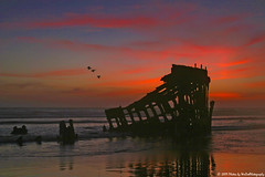 Peter Iredale Sunset (WesDotPhotography) Tags: sunset sea oregon peter iredale