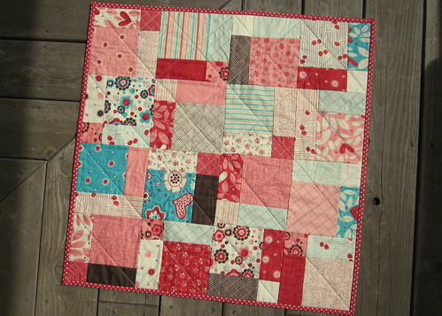 My daugters disappearing nine patch quilt