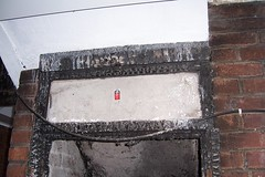 asbestos firedamage chrysotile headerpanel asbestoscement panelabovedoor asbestps