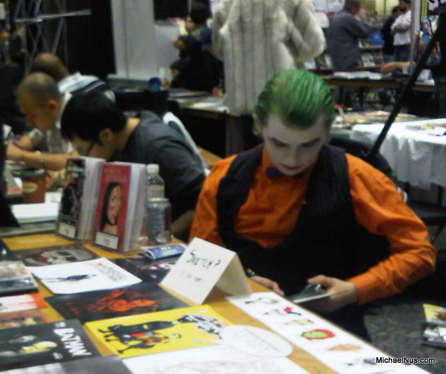 Joker is bored at ComicCON fan appreciation event, michael nus