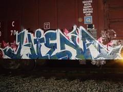 mr. hienaken (b00kwerm) Tags: train graffiti ugly fag hiena swy syw