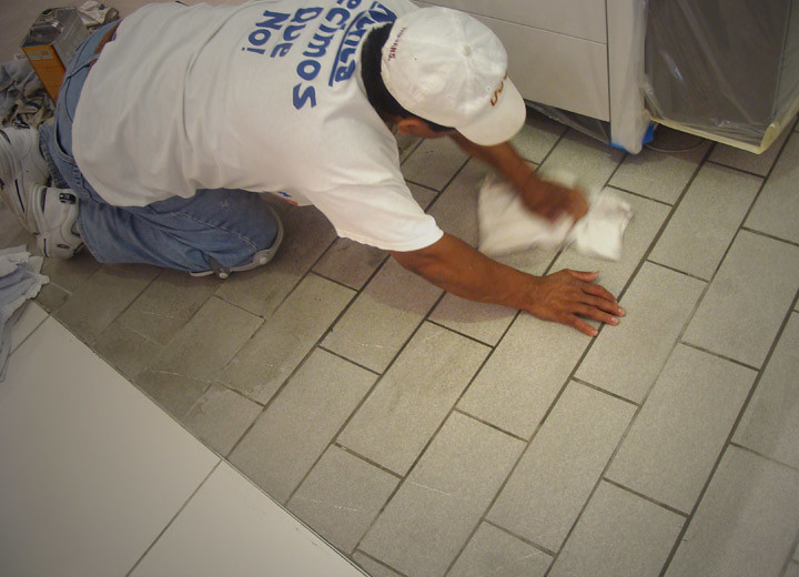 Alex Stone and Tile Services: Tile Patio Floor 1