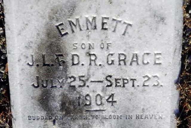 Emmett Grace Grave Inscription