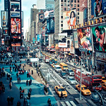 times square action - new york city