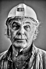 Old Forest Miner (Kenaz.24) Tags: portrait people blackandwhite art forest silver focus performance dramatic pit gloucestershire thinking figure miner coleford dreamscape specialeffects colliery forestofdean exemplary freeminer hopewellcolliery nikond300s oldforestminer