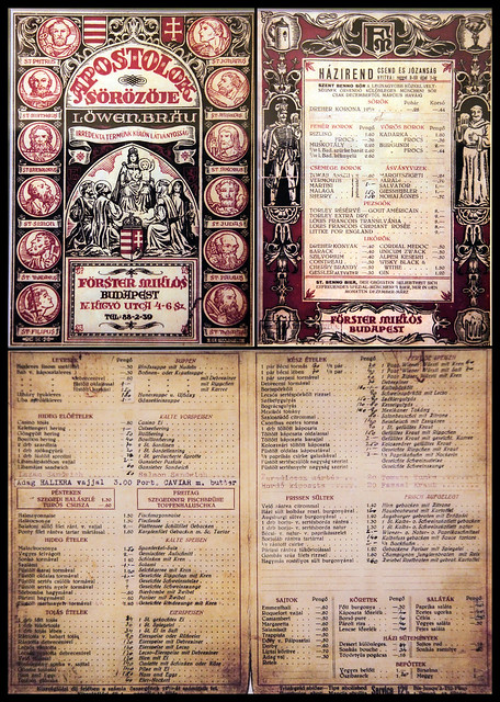 1902 original menu on display