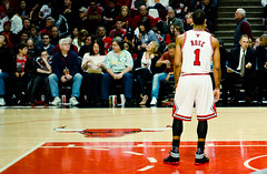 Derrick Rose #1 - MVP - Chicago Bulls (cshimala) Tags: chicago basketball court 1 crowd bulls playoffs fans adidas nba aroundtown basketballcourt unitedcenter game1 mvp drose chicagobulls pacers chicagoist nbaplayoffs indianapacers dabulls derrickrose