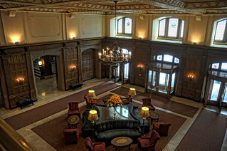 The lobby of the Chateau Laurier