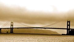 Golden Gate (Claudia DiSalvo) Tags: sanfrancisco california bridge water fog mare goldengate
