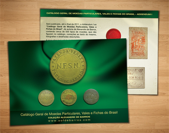 brazilian tokens postcard