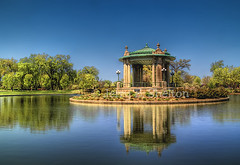Pagoda Circle (Uncle Phooey) Tags: park music reflection architecture forest canon circle pagoda spring stlouis scenic structure missouri pavilion saintlouis hdr forestpark springtime 550d 5xp 5exposures musicpagoda pagodacircle forestparkpavilion nathanfrank nathanfrankbandstand forestparkduckpond digitalrebelt2i scenicmissouri forestparkbandstand nathanfrankpavilion