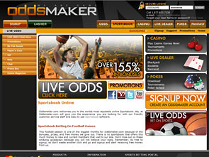 Oddsmaker Sportsbook Lobby