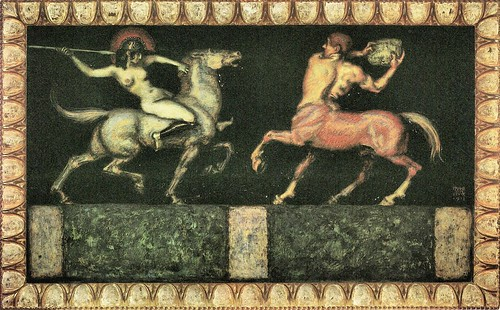 Amazon and the Centaur by Franz von Stuck