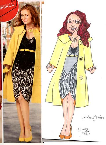 Magazine drawings - Isla Fisher by literarytease