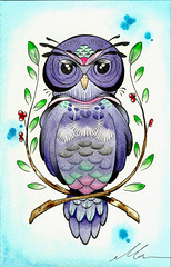 PurpleOwl (Madame Marcella Tattoos) Tags: owlpainting owltattoo owldrawing purpleowl owlillustration portfoliomix