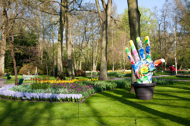 Hand at Keukenhof Gardens