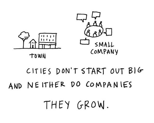 Companies are like cities. They grow.