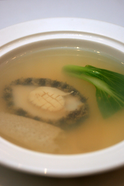 Double-boiled Chicken Soup with Abalone