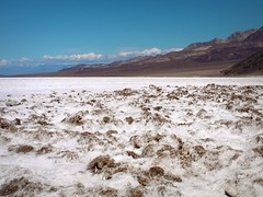 Badwater Basin, Death Valley (DJLeekee) Tags: usa mountains water clouds america death sand desert bad basin hills valley salk