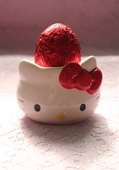 Hello Kitty Easter Egg (crayonmonkey) Tags: red food easter chocolate hellokitty