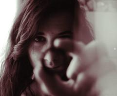 (Raquel Malln) Tags: light red portrait colors girl self hair happy eyes raquel days ring 365 leak