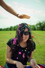 initiation (laurenmarek) Tags: light color girl easter dallas nikon texas natural egg sigma pop confetti 30mm utdallas d300s laurenmarek