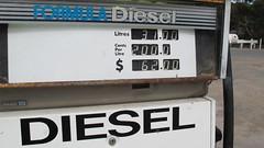 Diesel $2-00 per litre Madura (spelio) Tags: travel bowser australia pump western april wa outback costs plain roe fuel nullarbor 2011