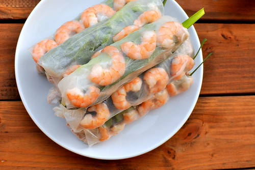 Goi Cuon - Vietnamese Salad Rolls with Pork and Shrimp