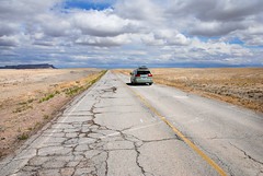 Borderline concept... 20090522_3973 (listorama) Tags: road terrain abandoned car landscape utah highway desert border sienna toyota 1200 van minivan boundary lightroom topography grandcounty frontageroad ut2009may