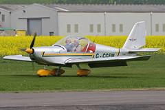 G-CCEM (QSY on-route) Tags: club easter real fly aeroplane in breighton gccem 24042011