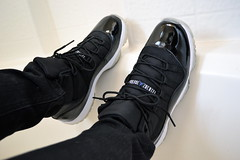 Air Jordan XI - Space Jams (Ma Got Sole) Tags: chicago black basketball michael nikon mesh air mj bulls nike jordan 23 dslr 2009 icey 3100 jumpman xi spacejam onfeet wdywt d3100 nikond3100