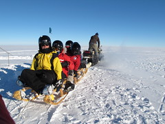 The commute to work at WAIS Divide, Antarctica