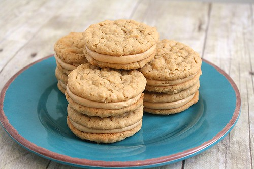 Peanut Butter Oatmeal Sandwich Cookies | Tracey's Culinary ...