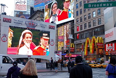 Royal Wedding Viewing Party in Times Square, New York City Hosted by TLC (NYCNYC) Tags: jumbotron timessquare royalwedding