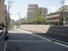 Mound of former Kobe habor line