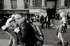 - (Mario Mitsis) Tags: city uk greatbritain england people urban blackandwhite bw motion blancoynegro monochrome unitedkingdom britain candid streetphotography streetlife scene metropolis digitalphotography londonstreetlife blancoenero capitalcitiy mariomitsis