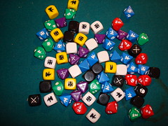 Warhammer Fantasy Roleplay dice by 8one6, on Flickr