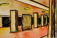 Westhafen U Bahnhof Berlin (Jo Johnston) Tags: pictures berlin paintings ubahn westhafen